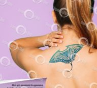 Moana Inspired Gramma Tala Stingray Back Temporary Tattoo in BLUE, LARGE