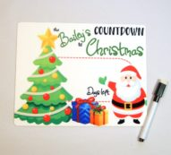 Countdown to Christmas Dry erase board DEB1010 7×9