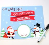 Countdown to Christmas Dry erase board DEB1011