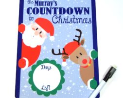 Countdown to Christmas Dry erase board DEB1012