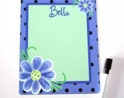 Abstract flowers Dry erase board DEB1017 7×9
