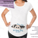 Peeking Baby Boy Maternity Shirt Iron-on Printable, Tone 3, Instant Download